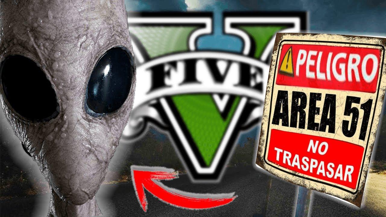 ¡FUI AL ÁREA 51 EN GTA V Y ENCONTRE ALIENS! - GTA 5 MODS