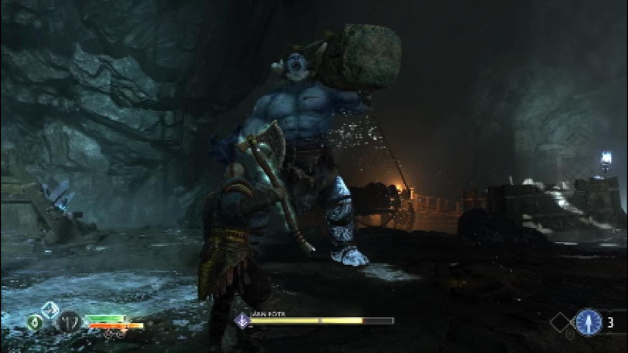 God of War - Mountain Troll Boss Take Down