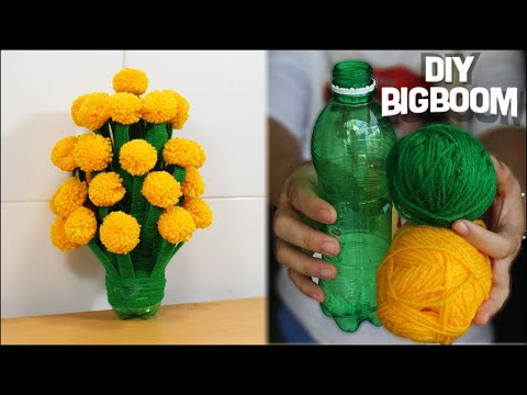 How To Make Flower Vase With Wool (Best Idea 2019) | DBB