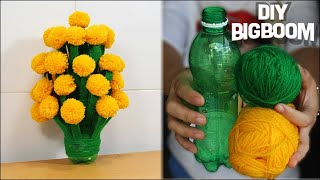 How to make Flower Vase with Wool (Best Idea 2018) | DBB