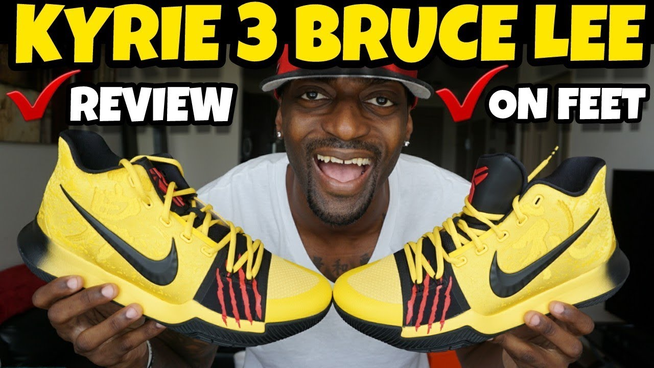 c428011f184e 🔥🔥 KYRIE 3 MAMBA MENTALITY BRUCE LEE REVIEW   ON FOOT - YouTube