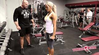 Bikini Sports Model Sarah Allen trains legs , Butt Abs with Jon Davie - Full video