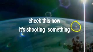 NASA UFO videos UFO fire in space live on the ISS HD stream UFO shooting