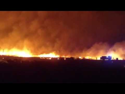 GORSE FIRE: Major Gorse Fire in the Gaeltacht, West Galway