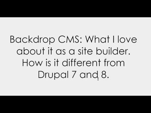 "Session: ""Backdrop CMS: What I love about it as a site builder. How is it different"" by G. Netsas"
