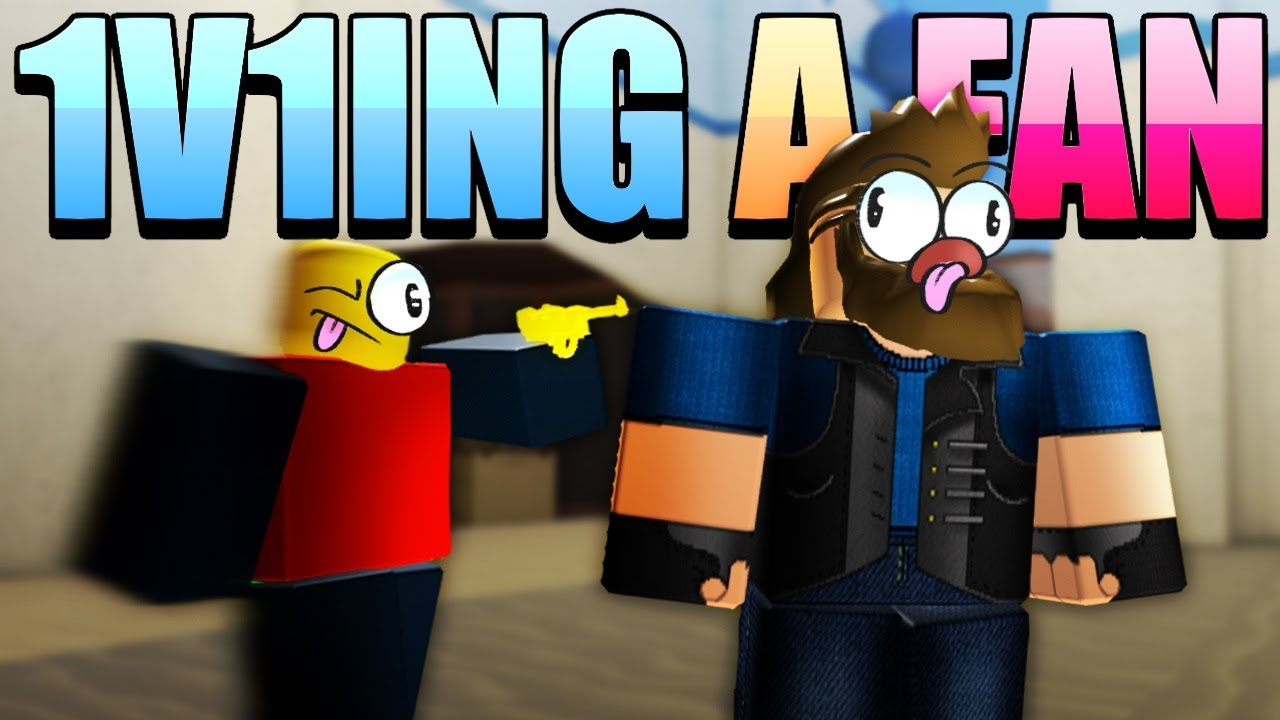 1v1ing a fan in roblox arsenal arsenal roblox
