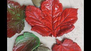 DIY Herbstlich gefärbte Blätter,leicht und schnell selbst zu machen /Autumn colored leaves