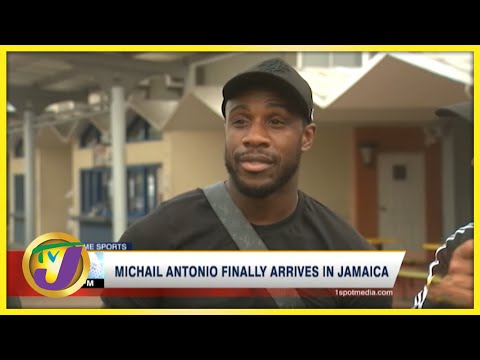 Michail Antonio Finally Arrives in Jamaica | TVJ News - September 1 2021