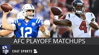 AFC Playoff Picture, Schedule, Matchups, Dates And Times For 2019 NFL Playoffs