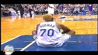 Dennis Rodman Sits Down on Court and EJECTED!