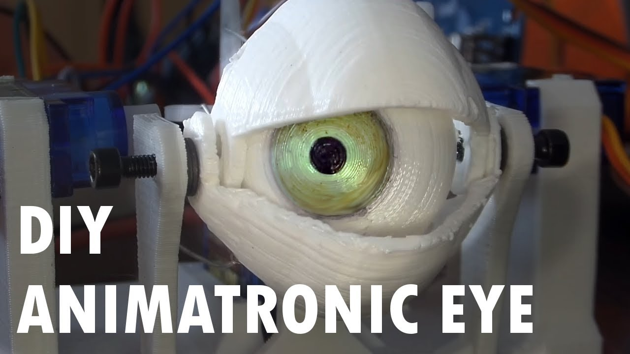 Diy Animatronic Eye Mechanism Printed
