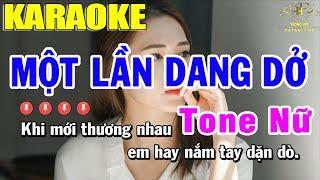 Karaoke Một Lần Dang Dở Tone Nữ Nhạc Sống | Trọng Hiếu