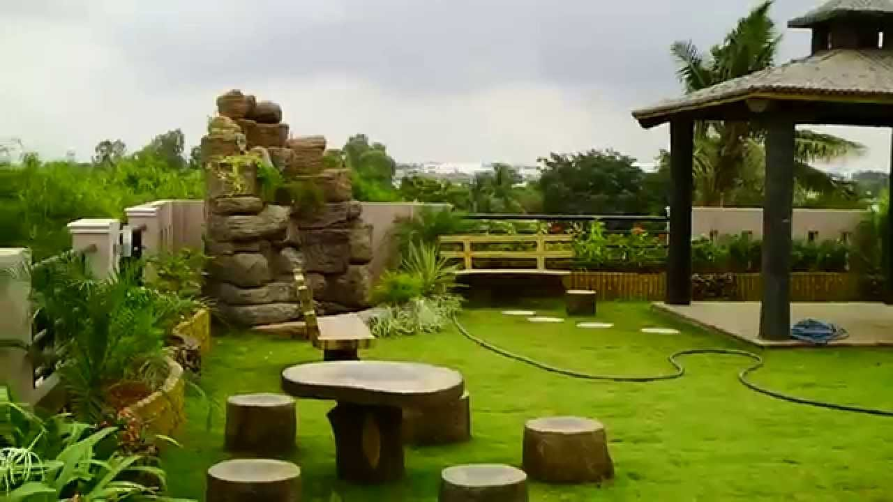 Rooftop garden on our youtube for Best house designs with garden