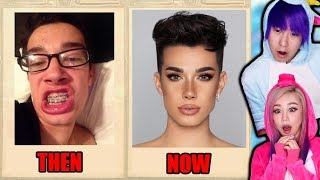 YouTuber Yearbook Photos! THEN vs NOW