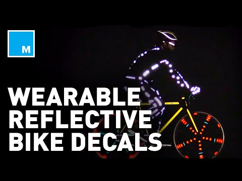 These REFLECTIVE Bike Decals Are WEARABLE | Future Blink