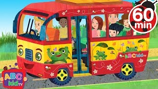 Wheels on the Bus | +60 min Nursery Rhymes - ABCkidTV