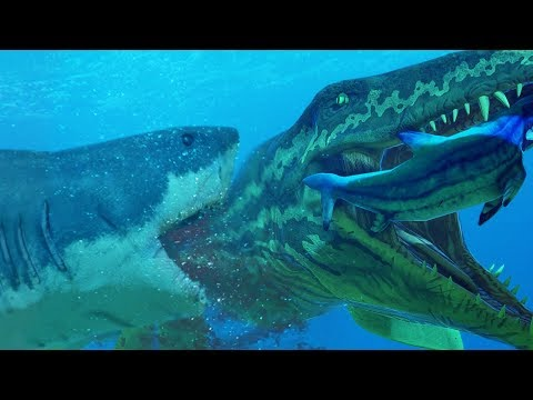 GREAT WHITE SHARK Vs NEW PROGNATHODON - Feed And Grow Fish - Part 105   Pungence
