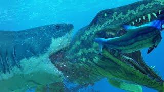 GREAT WHITE SHARK vs NEW PROGNATHODON - Feed and Grow Fish - Part 105 | Pungence