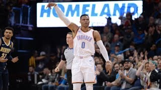 Russell Westbrook Game Winner vs Nuggets! 38 Points! 2017-18 S…