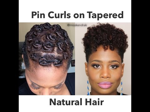 Pin Curls On Tapered Natural Hair | 2 Methods