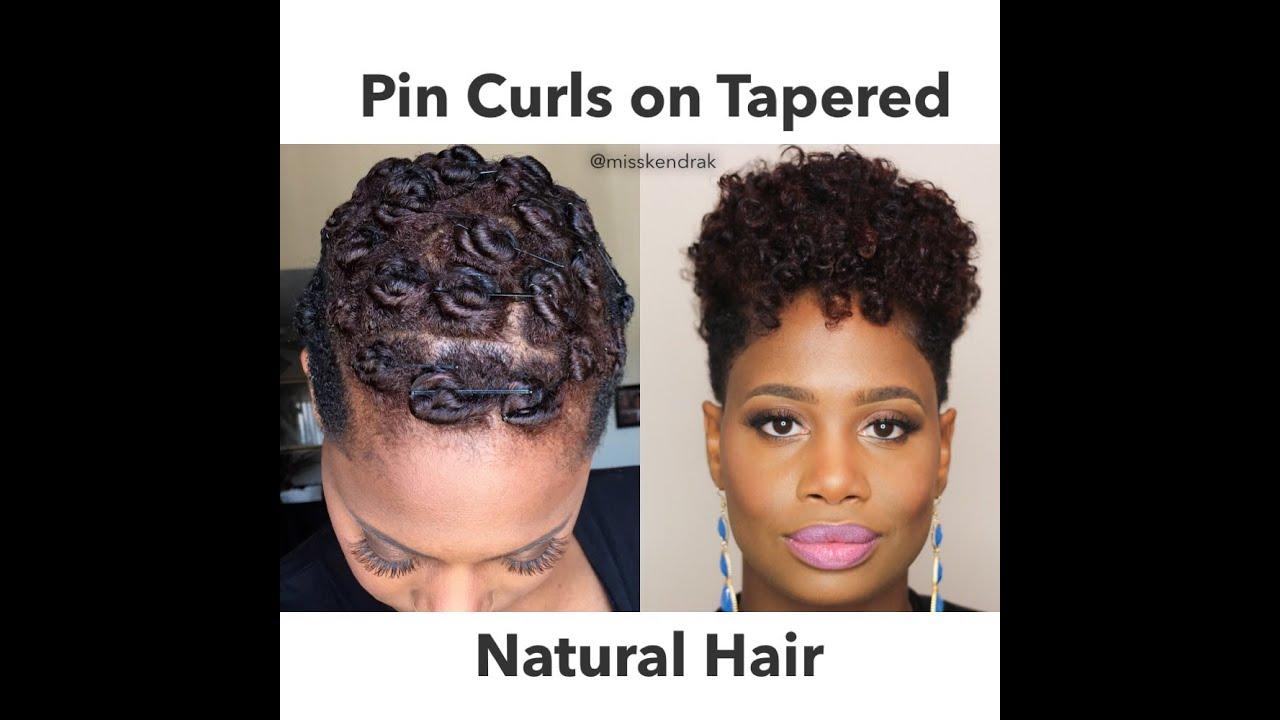 pin curls tapered natural hair