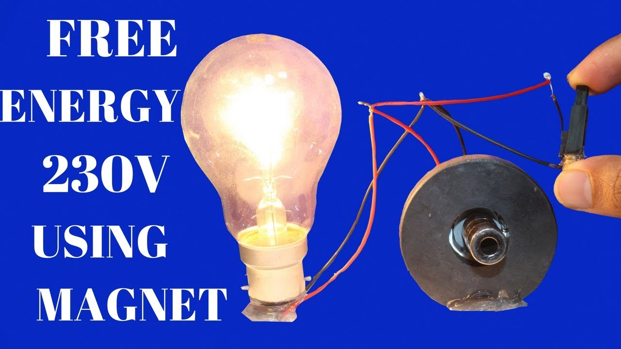 Free Energy Light Bulbs 230v For Life Time   Using Magnet   Free Energy Light  Bulbs Using Magnet