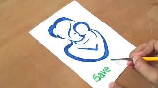 Save the Girl Child poster - drawing poster for kids