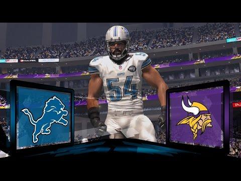 Madden NFL 17 Detroit Lions Franchise- Year 2 Game 3 at Minnesota Vikings