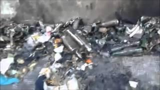Aversa (CE) - Incendio in Via Virgilio: bruciano rifiuti depositati in strada (03.11.15)