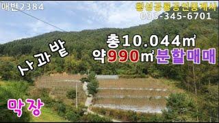 매번2384)#강원도 부동산매매*전망 산세 깨끗한 자연…