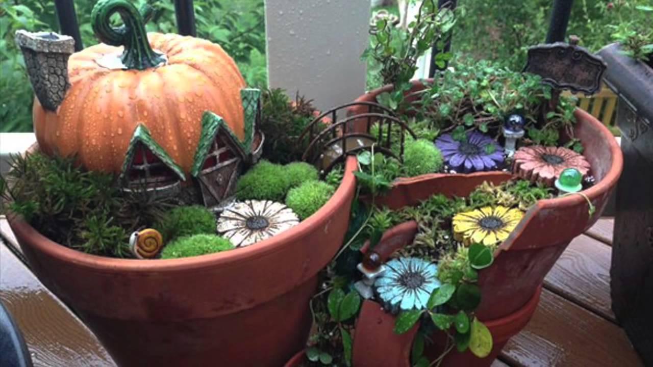 Broken Pots Turned Into Brilliant Fairy Gardens Youtube