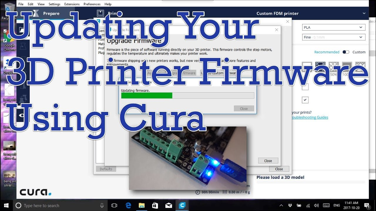 Updating Your 3D Printer Firmware Using Cura | 3D Printing Club
