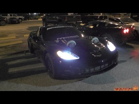 2400HP Twin Turbo Corvette at TX2K15 Tearing up the Streets!