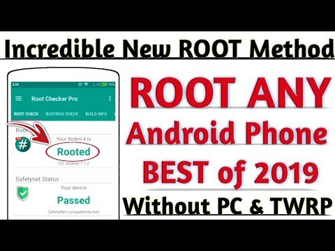 Incredible New Best ROOT Method 2019   HOW TO ROOT ANY ANDROID PHONE   Without PC & TWRP  