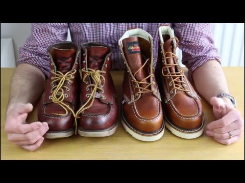 fcb316aaee3 RED WING 875 Vs THOROGOOD Which is the best moc toe boot?