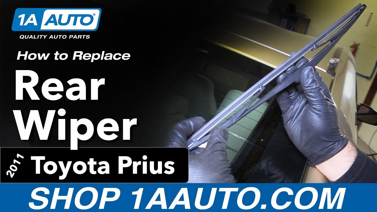 How To Replace Rear Wiper Blade 10 15 Toyota Prius Youtube