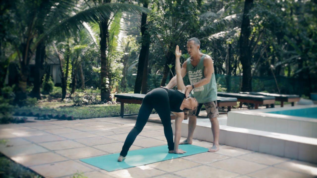 Parivrtta Trikonasana | Revolved Triangle Pose | Ashtanga Yoga Asana School