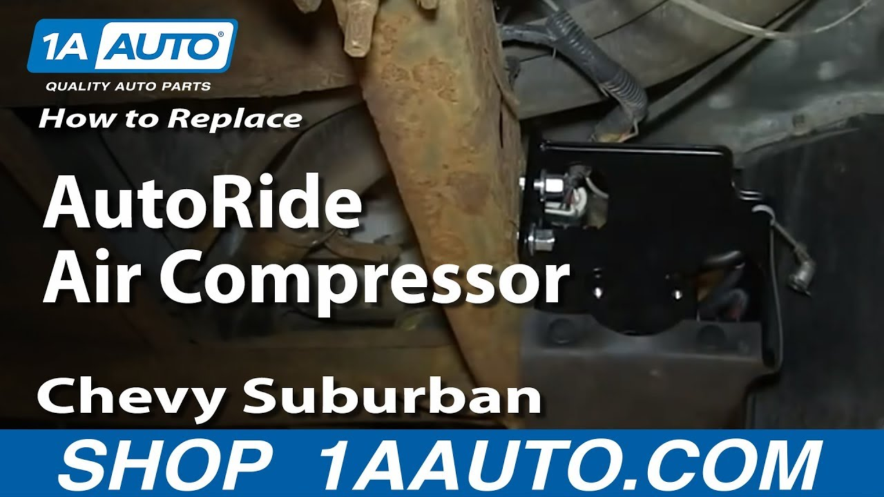 how to replace rear autoride air compressor 2000 06 chevy suburban gmc yukon [ 1280 x 720 Pixel ]