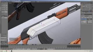 blender 3D التعليمي بناء بندقية(AK-47) الجزء 5