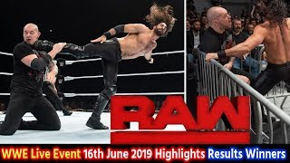 WWE Monday Night Raw Live Event 16th June 2019 - Seth Rollins Universal Championship Match ! Results