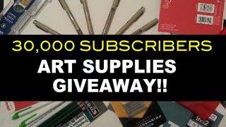 International Art Supplies Giveaway !! 8 Sakura Drawing Pens, Bristol Board & More!!