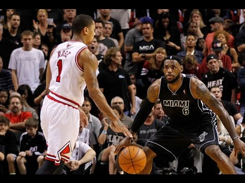 c23cd47f5a32 LeBron James vs Derrick Rose Full Duel Highlights 2012.01.29 - NASTY Plays