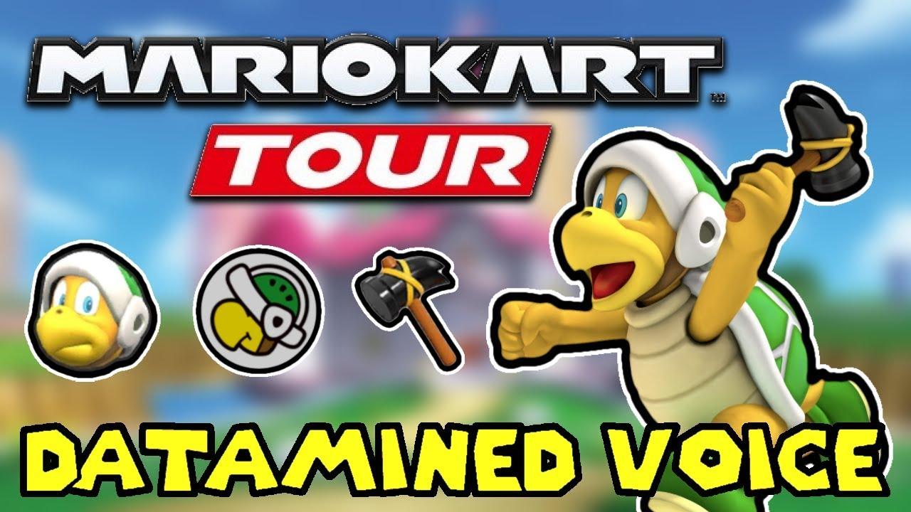 All Hammer Bro S Datamined Voice Clips Mario Kart Tour Youtube