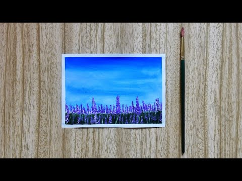 Simple Lavender Field Painting | Easy Acrylic Painting for Beginners | Landscape Painting | ASMR Art