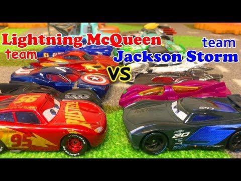 Тачки Челлендж Молния Маквин против Джексона Шторма Мультики Машинки Игрушки