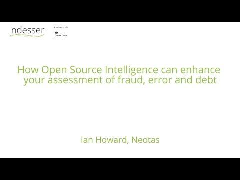 Download Indesser Workshop: Enhancing assessment of fraud, error and debt using Open Source Intelligence
