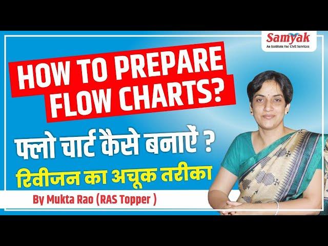 How To Prepare Flow Chart | फ्लो चार्ट कैसे बनाये | रीविज़न का अचूक तरीका | RAS 2018 Topper Mukta Rao