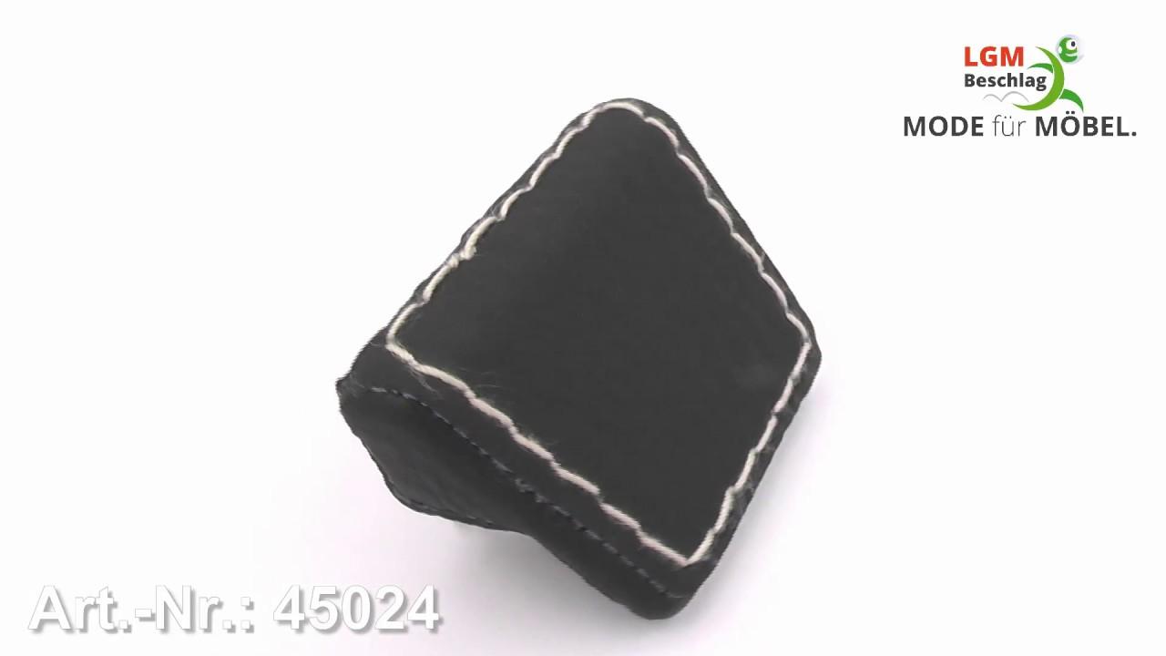 Möbelgriff Prien Design Modern Lederstruktur Schwarz 42x26x21