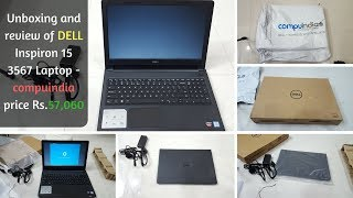 Unboxing and review of DELL Inspiron 15 3567 Laptop - compuindia price Rs.57,060