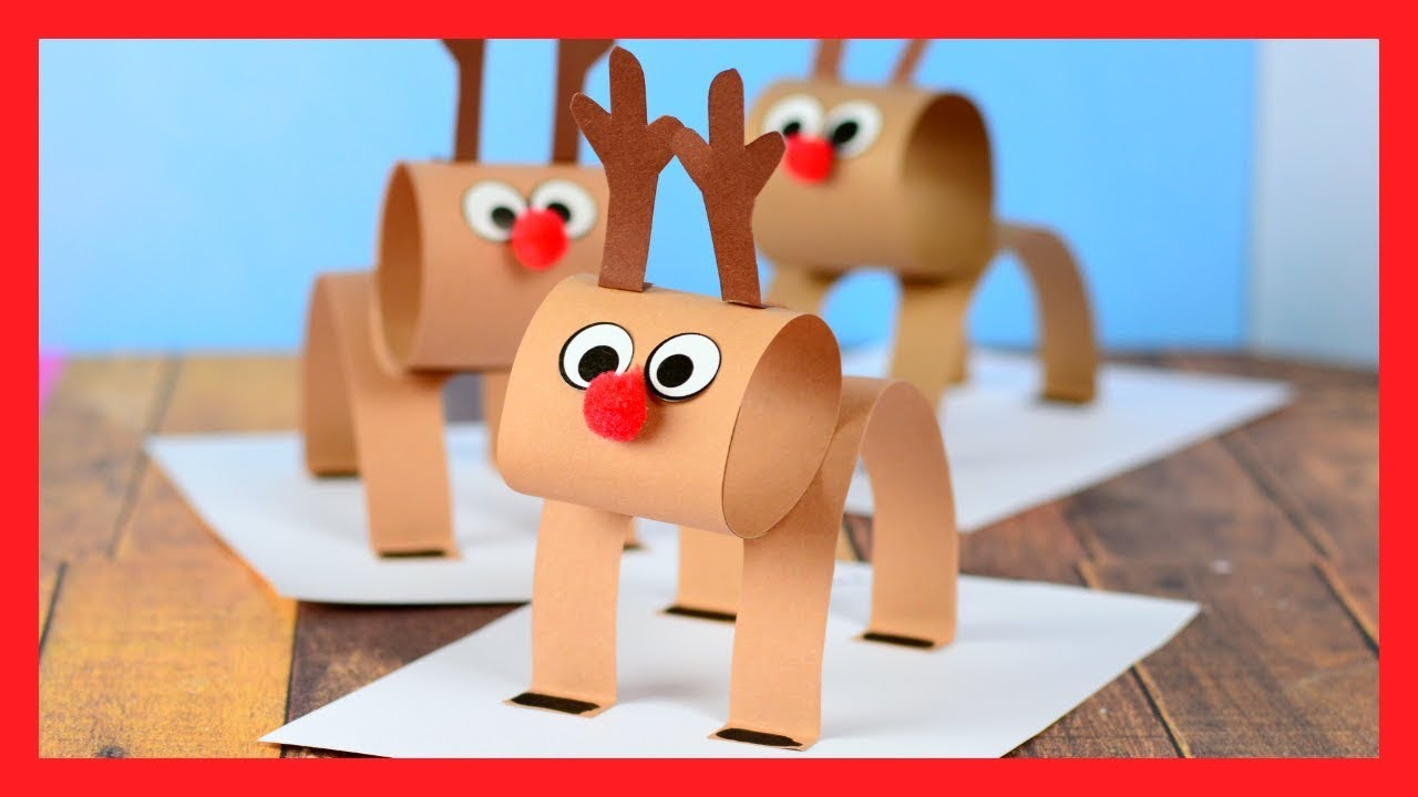 paper ball reindeer craft 3d reindeer craft paper craft for 5070